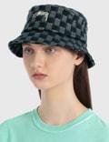 Stussy Brent Check Wool Bucket Hat Green Women