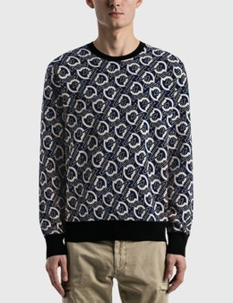 Moncler All-over Logo Knitted Sweater