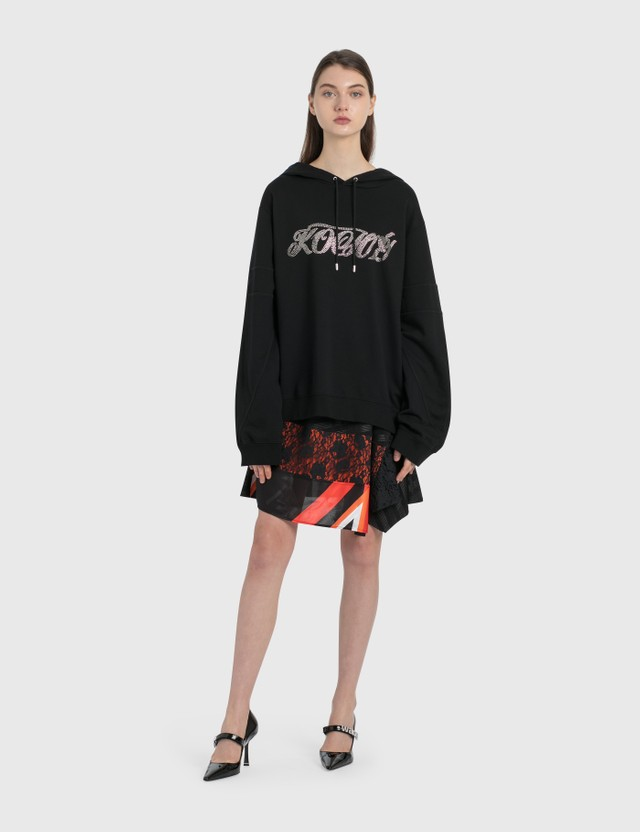 KOCHÉ Patched Lace Skirt Black Women