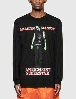Pleasures Pleasures x Marilyn Manson Superstar Long Sleeve T-Shirt