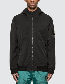 Stone Island Tightly Woven Nylon Twill Hooded Jacket