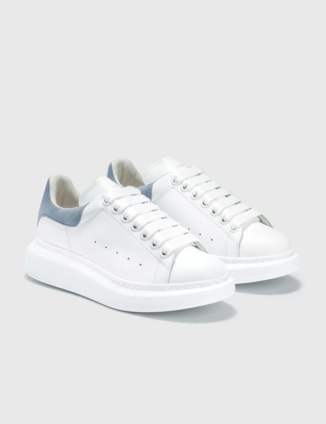 Alexander McQueen Oversized Sneakers White/dream Blue Women