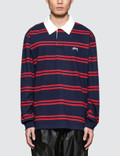 Stussy Desmond Stripe L/S Rugby Jersey Picture