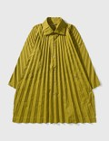 Homme Plissé Issey Miyake HOMME PLISSÉ Pleated Polyester Long Coat Picutre