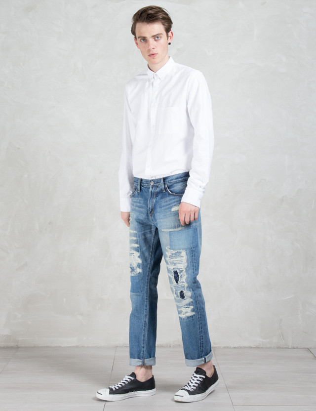 Denim By Vanquish & Fragment Five Years Wash Wide Straight Denim Pants