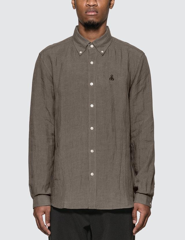 SOPHNET. Linen Basic B.D Shirt