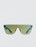 Super By Retrosuperfuture Tuttolente Flat Top Petrol Sunglasses Picutre