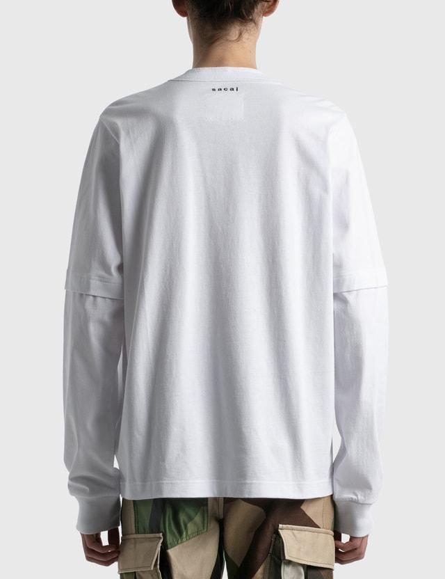 Sacai KAWS Flock Print Long Sleeve T-shirt
