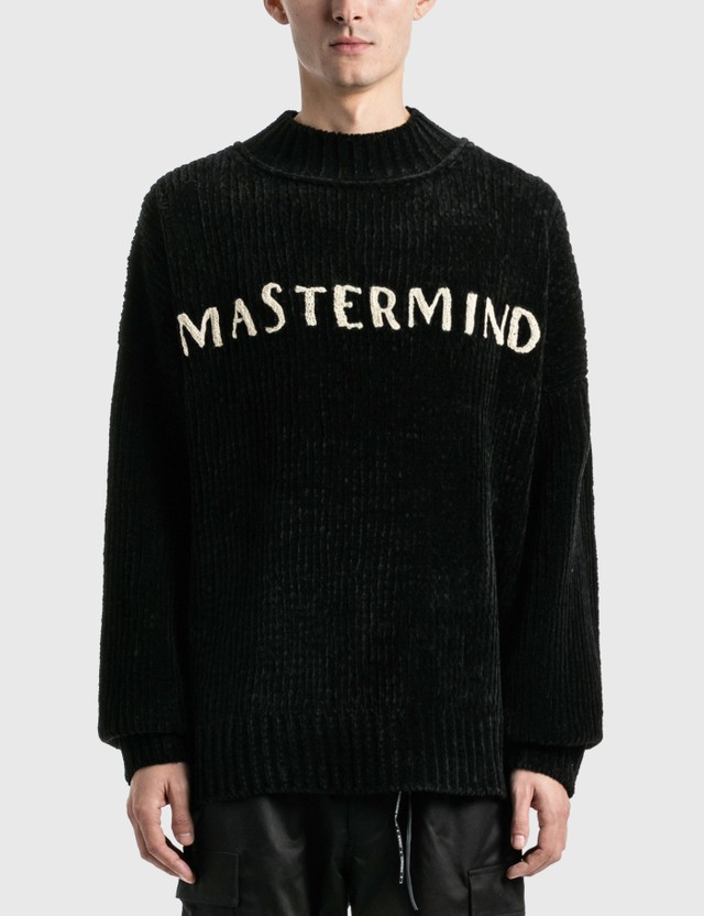 Mastermind World Cashmere Hand Knitted Mockneck Crew Sweater