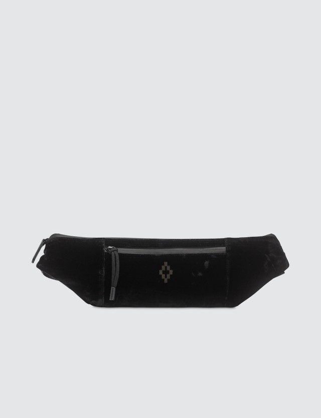 Marcelo Burlon Cross Velvet Fanny Pack Black Men