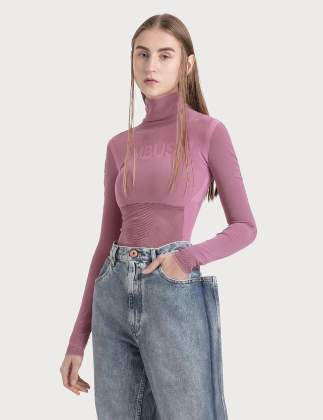 Ambush Tech Turtleneck Knit Pink Women