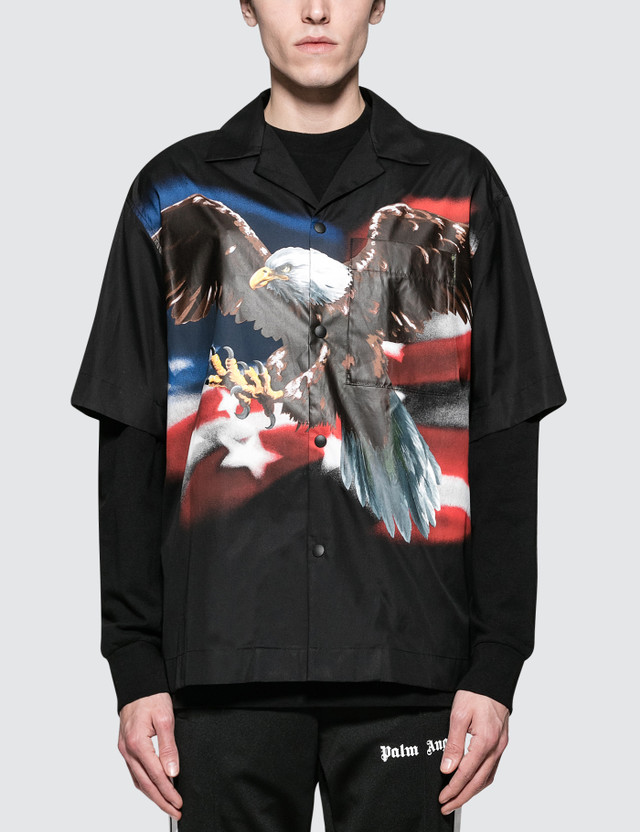Palm Angels Eagle Bowling Shirt