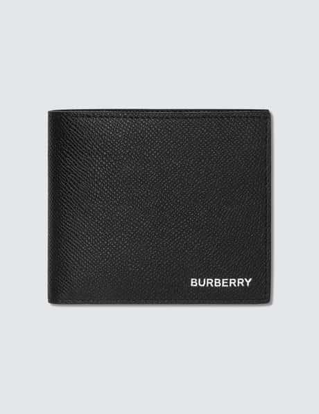 버버리 Burberry Grainy Leather International Bifold Wallet