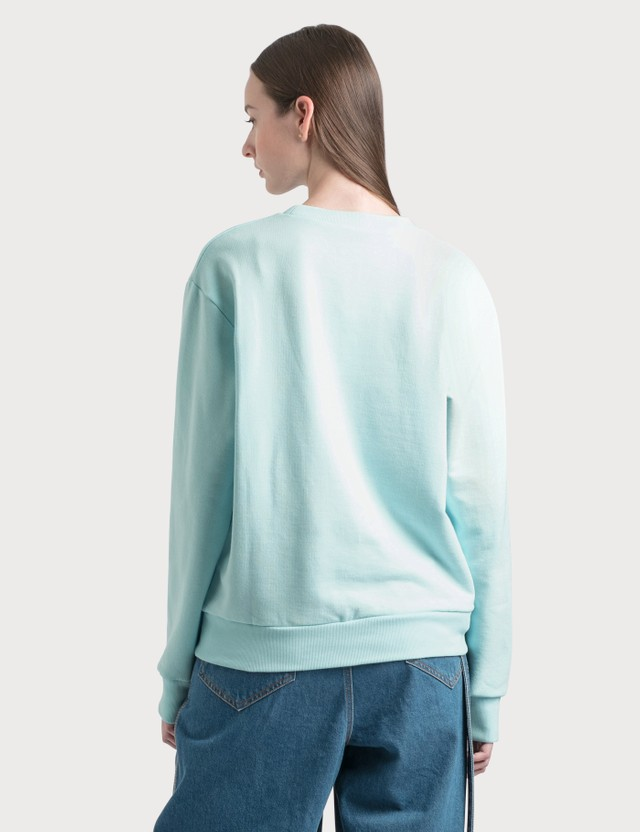 Lanvin Mother and Child Print Sweatshirt 201 Lanvin Blue Women