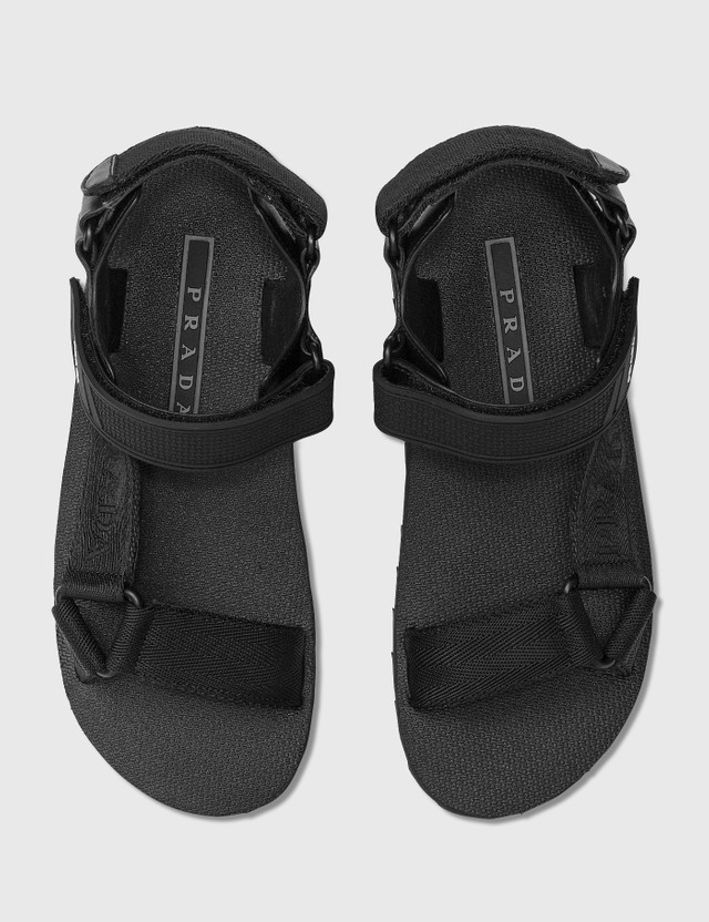 Prada Fabric Tape Sandals Nero Women