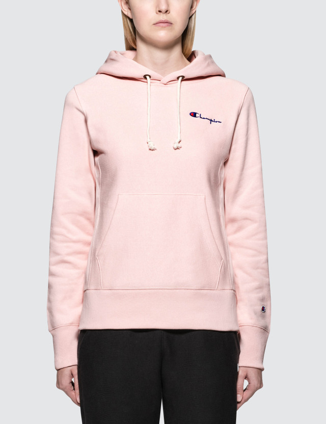 Champion Reverse Weave Small Logo Warm-up Hoodie