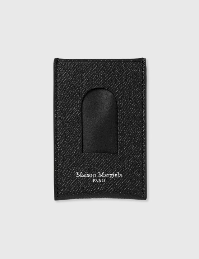 Maison Margiela 페블 그레인 레더 카드 케이스 Black Men