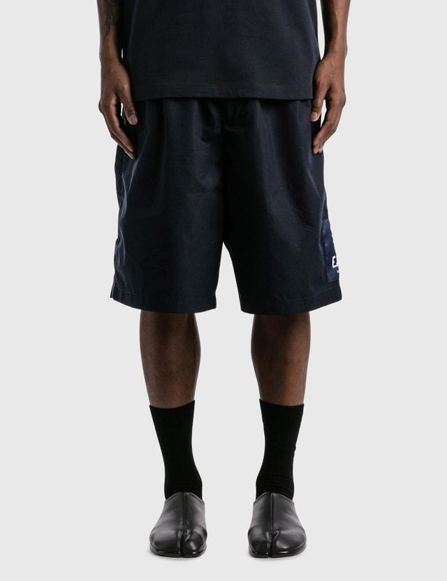 Emporio Armani Organic Cotton Drawstring Bermuda Shorts Blu Navy Men