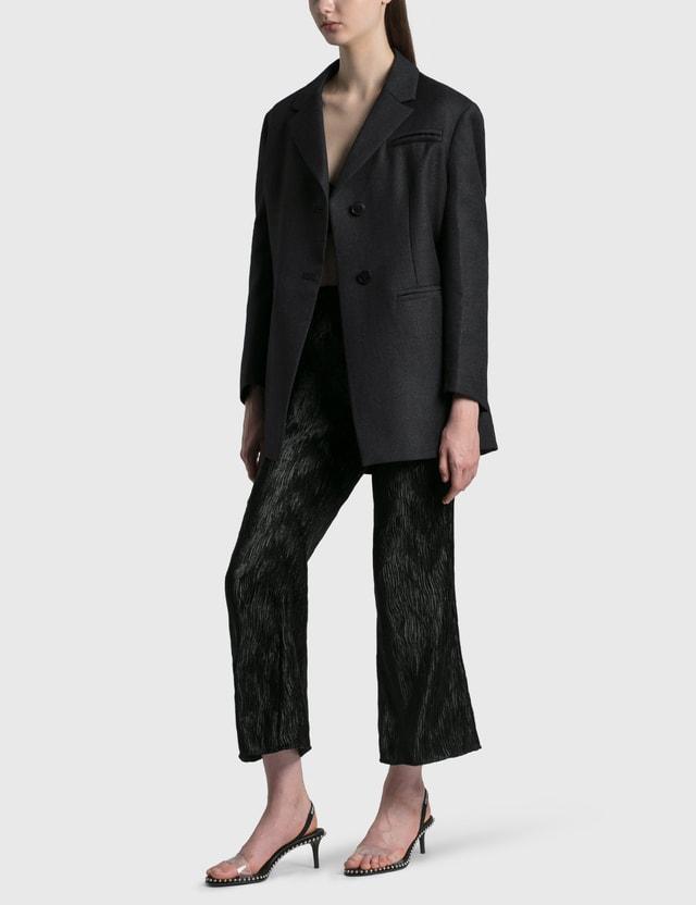 Ganni Wool Suiting Oversized Blazer Phantom Women