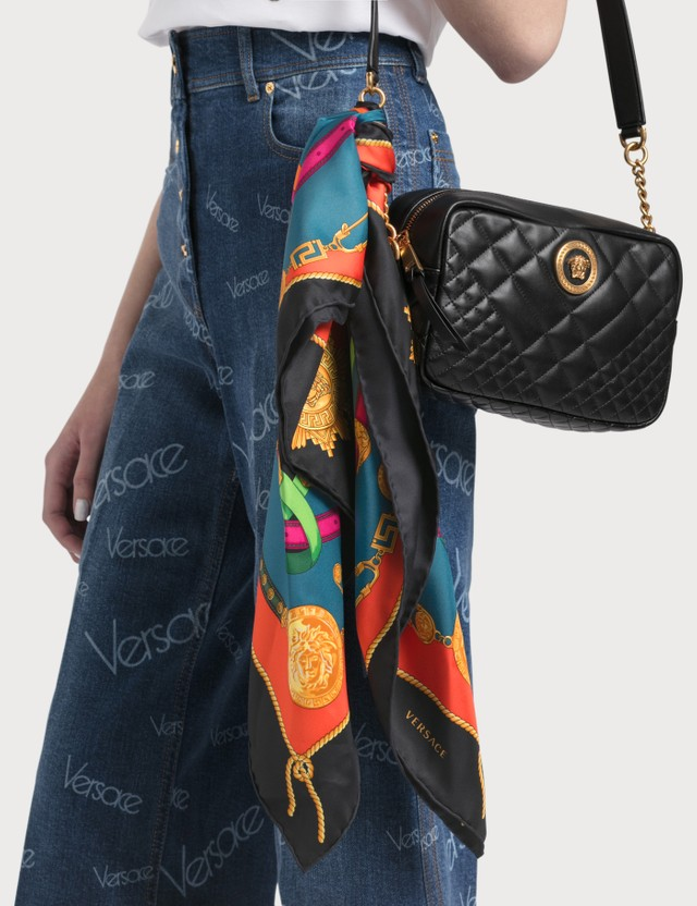 Versace Barocco Rodeo Print Silk Foulard