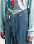 Lanvin Large Bealted Denim Pants 22 Light Blue Women