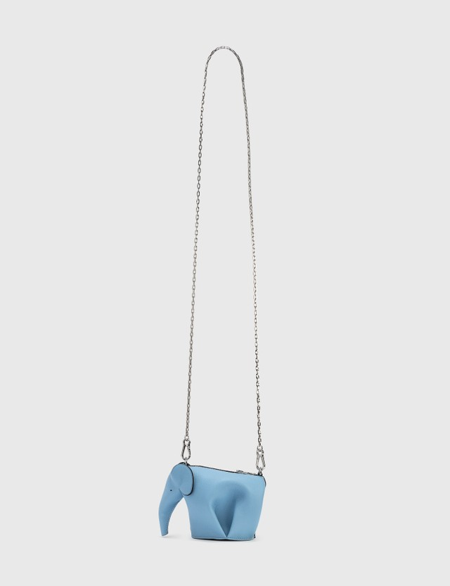 Loewe Elephant Pouch Light Blue Women