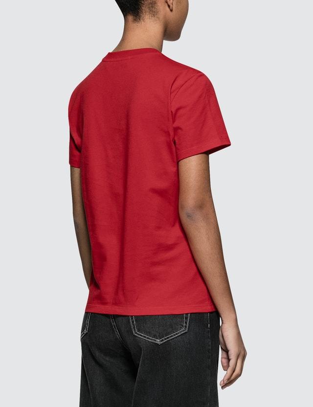 MSGM Brush Strokes Msgm Logo Short Sleeve T-shirt