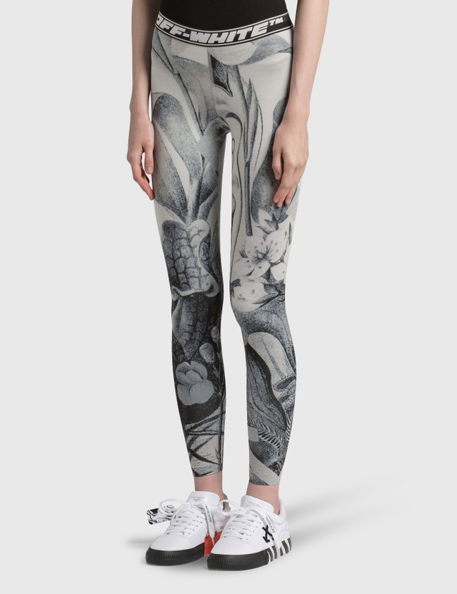 Off-White Athle Botanical Leggings White Black Women