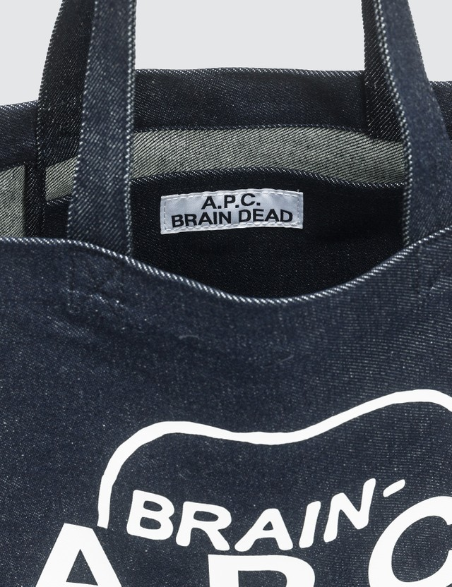 A.P.C. A.P.C. x Brain Dead Denim Tote Bag