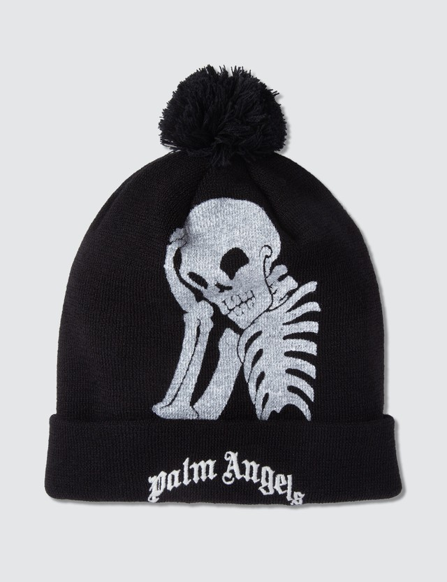 Palm Angels Thinking Skull Beanie