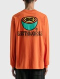 Brain Dead Earthworks Long Sleeve T-Shirt Orange Men