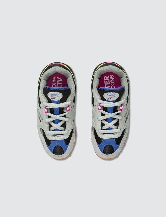 Reebok CL Leather ATI 90s Skull Grey/true Grey/blk/pink/lime/cobalt Kids