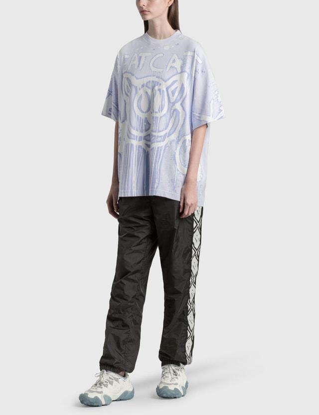 Acne Studios Edra Bleach Oversized T-shirt Pale Blue Women