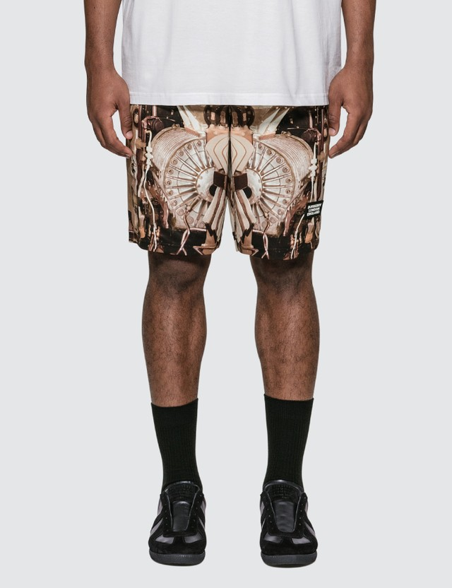Burberry Submarine Print Mesh Shorts