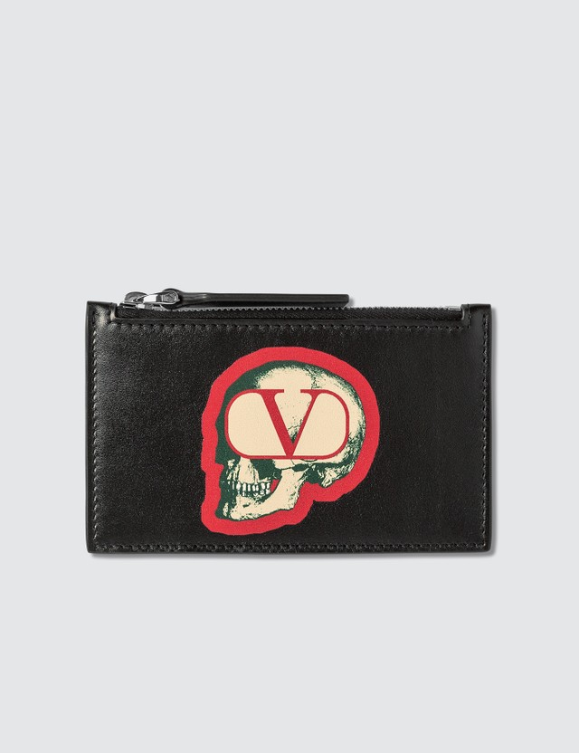 Valentino Valentino x Undercover Skull Logo Card Holder