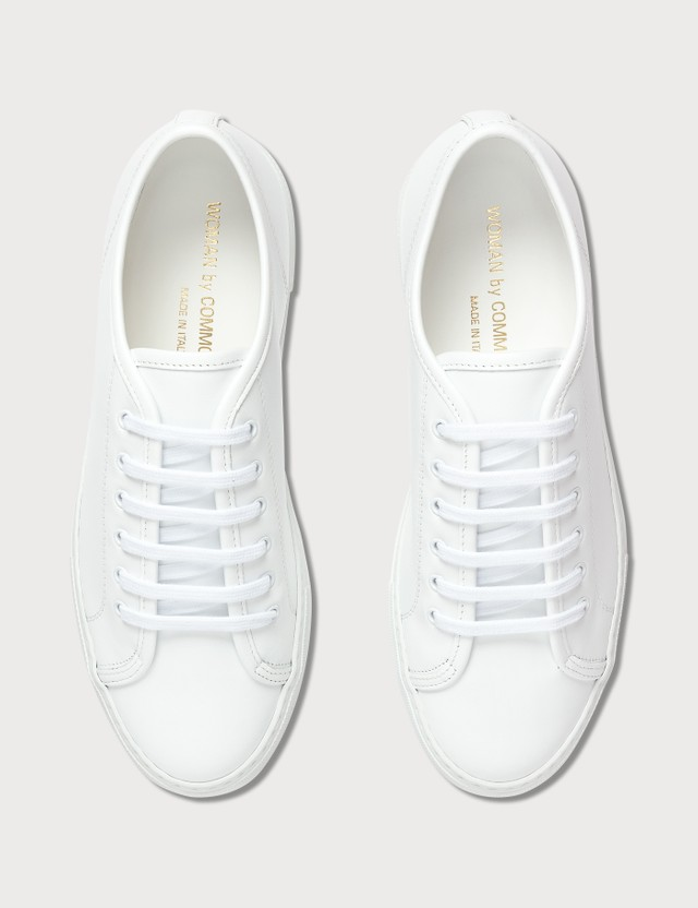 Common Projects Tournament Low Super In Leather White Women