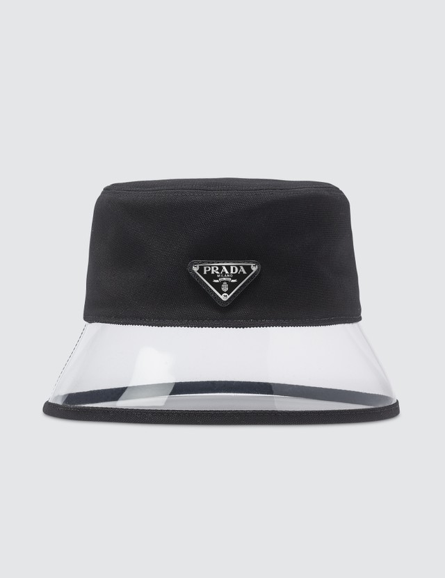 Prada Popeline And Plex Bucket Hat