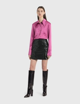 Nanushka Bebe Vegan Leather Mini Skirt