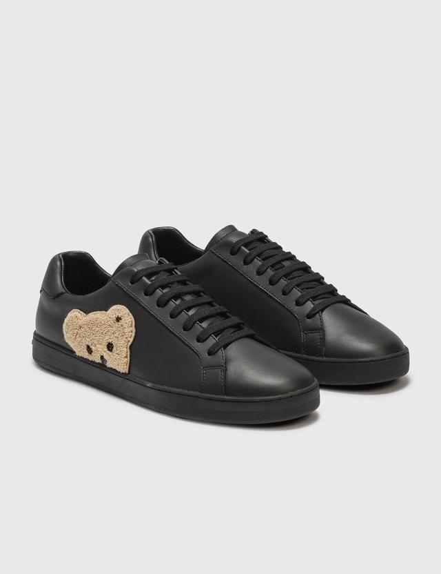 Palm Angels New Teddy Bear Tennis Sneaker Black Men