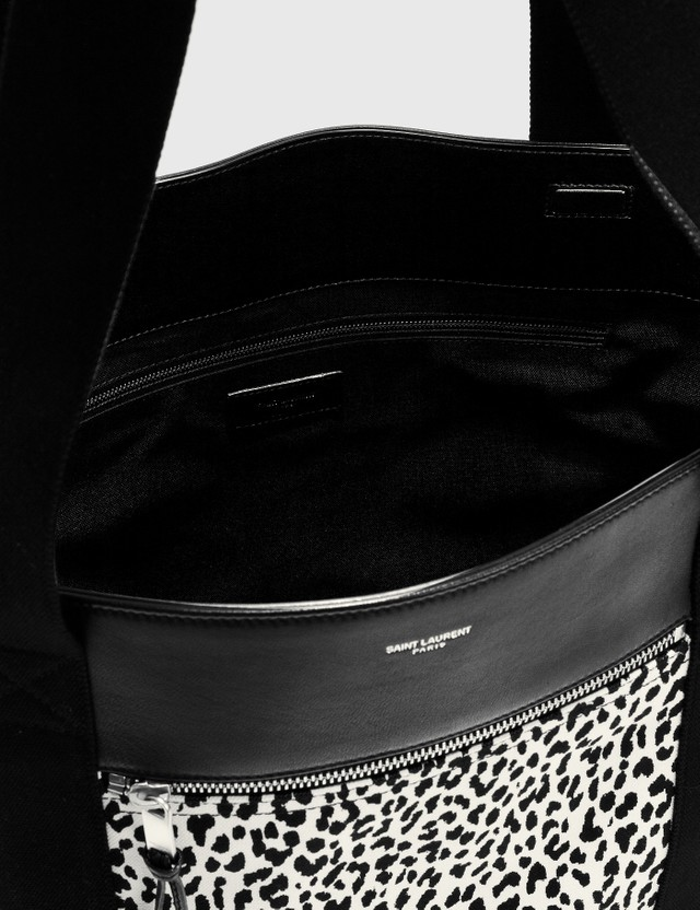 Saint Laurent Zebra Shopping Bag