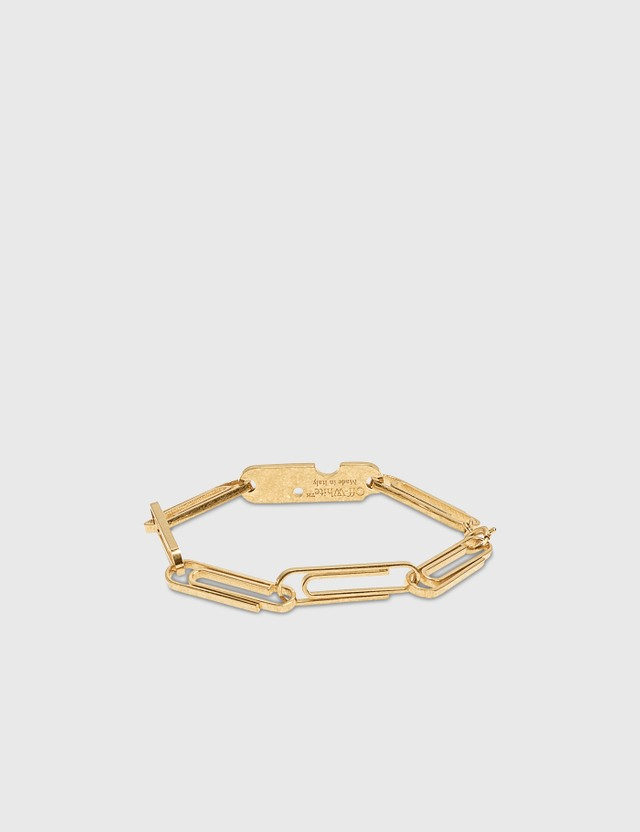 Off-White Multi Paperclip Bracelet Gold No Color Women