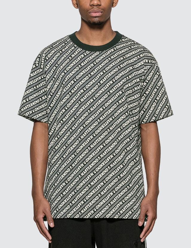 Mastermind World Allover Logo Print T-shirt