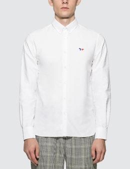 Maison Kitsune Tricolor Fox Patch Classic Oxford Shirt BD