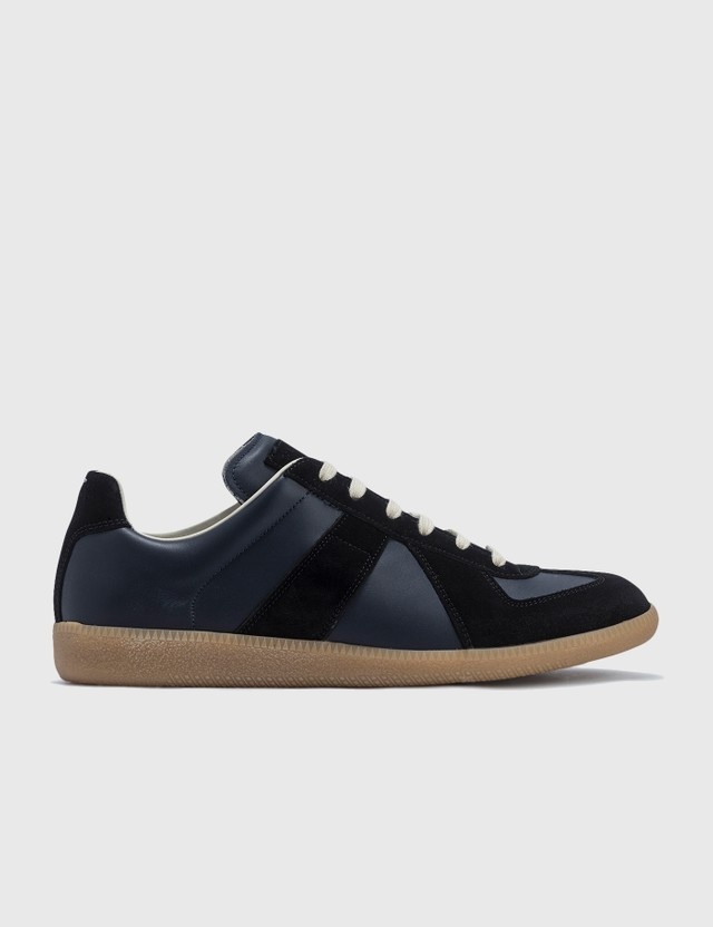 Maison Margiela Replica Low Top Sneakers Navy/black Men