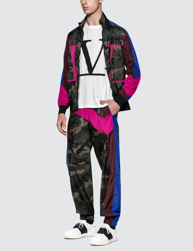 Valentino V Logo Jacket Camou Army Men