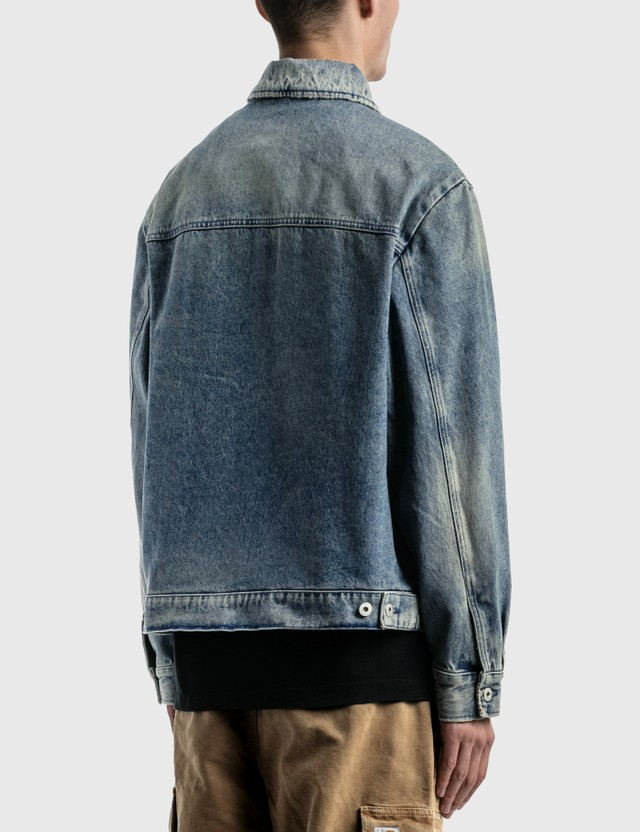 Heron Preston Worker Logo Patch Denim Jacket Blue Men