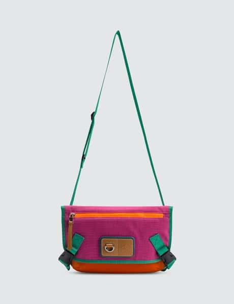 로에베 ELN 메신저백 스몰 - 바이올렛/오렌지 LOEWE ELN Messenger Small Bag