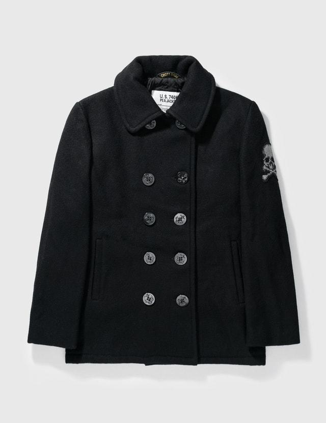 Mastermind Japan Mastermind Japan X Schott Bros Wool Double Breast Jacket Black Archives