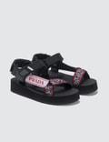 Prada Jacquard Logo Sandals