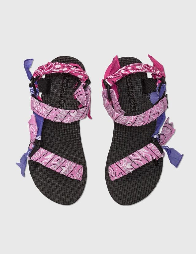 Arizona Love Trekky Bandana Sandal Mixed Pink Bandana Women